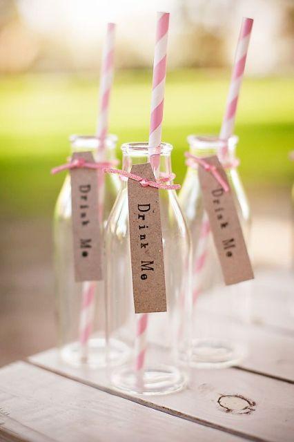 Drinks for Alice in Wonderland bridal shower