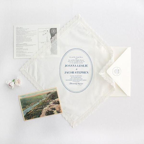 Elegant Handkerchief Invitations