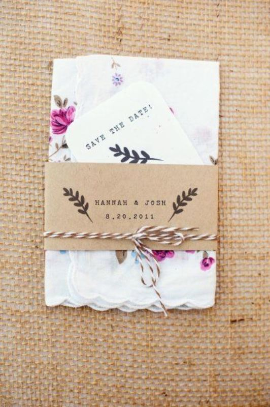 Floral Handkerchief Save-The-Date