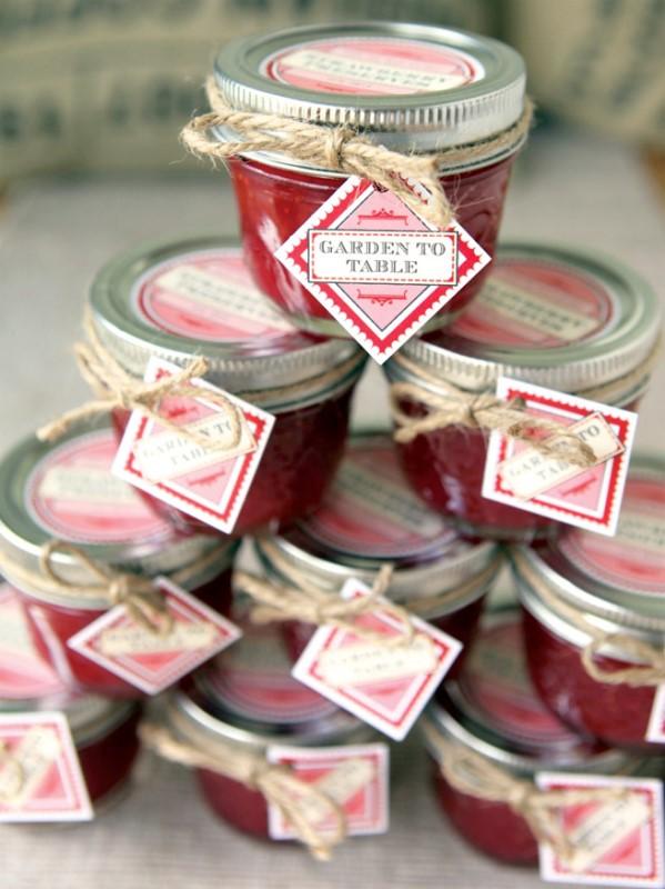 Handmade Jam Favors