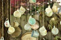 Hanging decor idea for Alice in Wonderland bridal shower