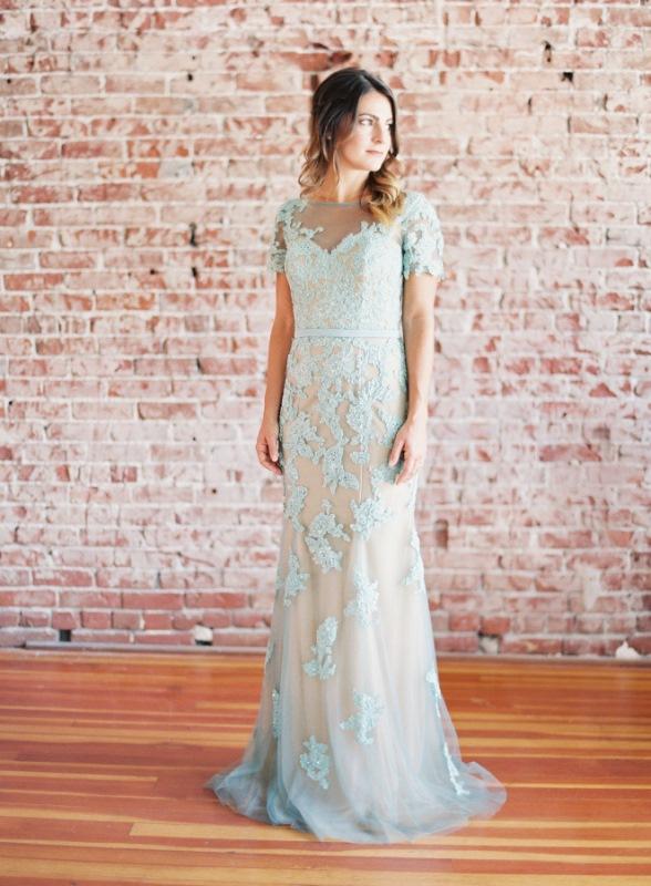 Lace Blue Dress By La Femme Fashion