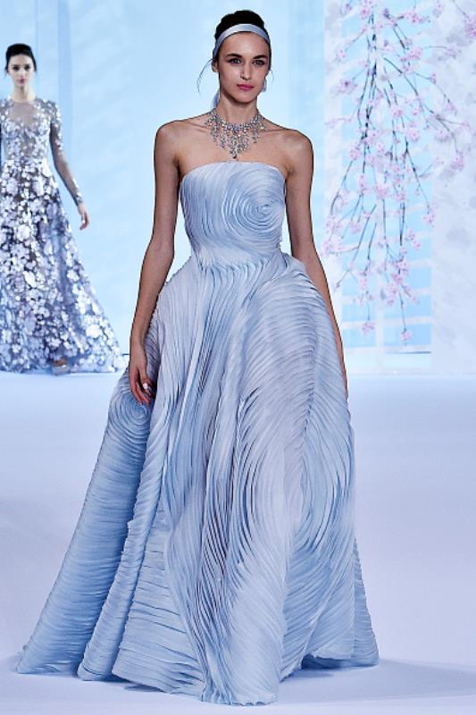 Lavender Blue Couture Bridal Dress From Ralph & Russo 2016 Collection