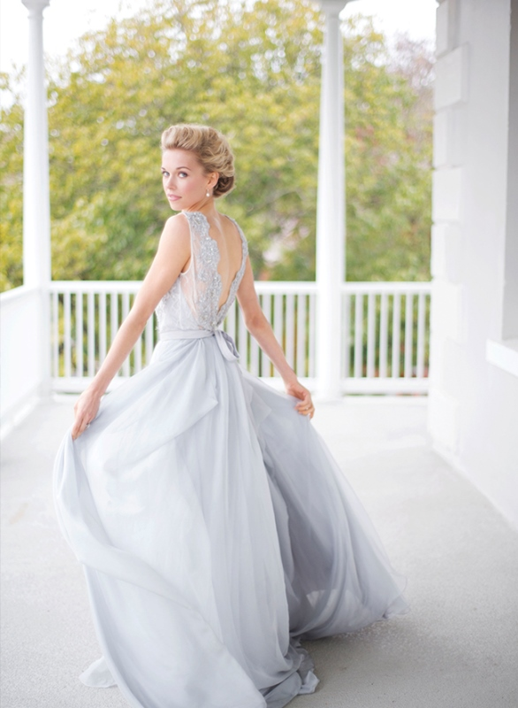 Lavender Grey Wedding Dress By Ca'Rousel