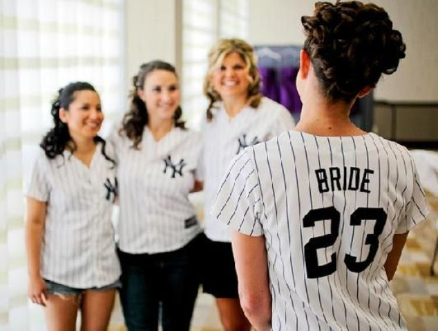 Outfits for baseball bridal shower