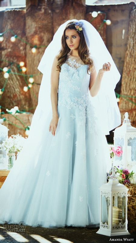 Pastel Blue Wedding Dress By Amanda Wyatt