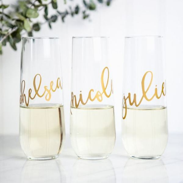 Personalized Champagne Flutes For Bridal Shower