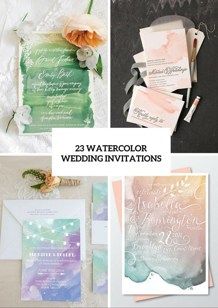 23 Pretty Watercolor Wedding Invitations To Get Inspired