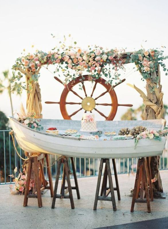 nautical wedding decorations 21 cool ideas to use a canoe at your rustic wedding 6106
