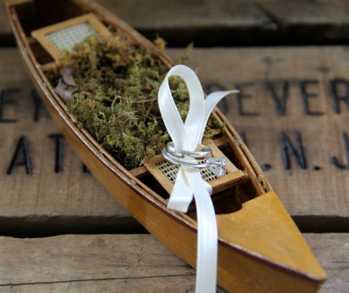 Rustic Canoe Ring Bearer
