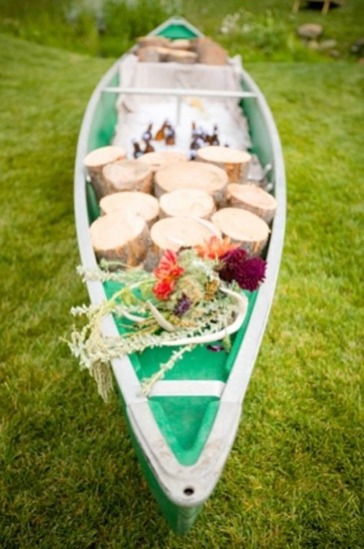 Rustic Canoe Wedding Decor