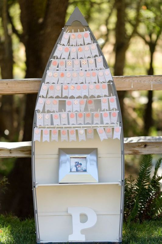 Rustic Canoe Wedding Seating Chart