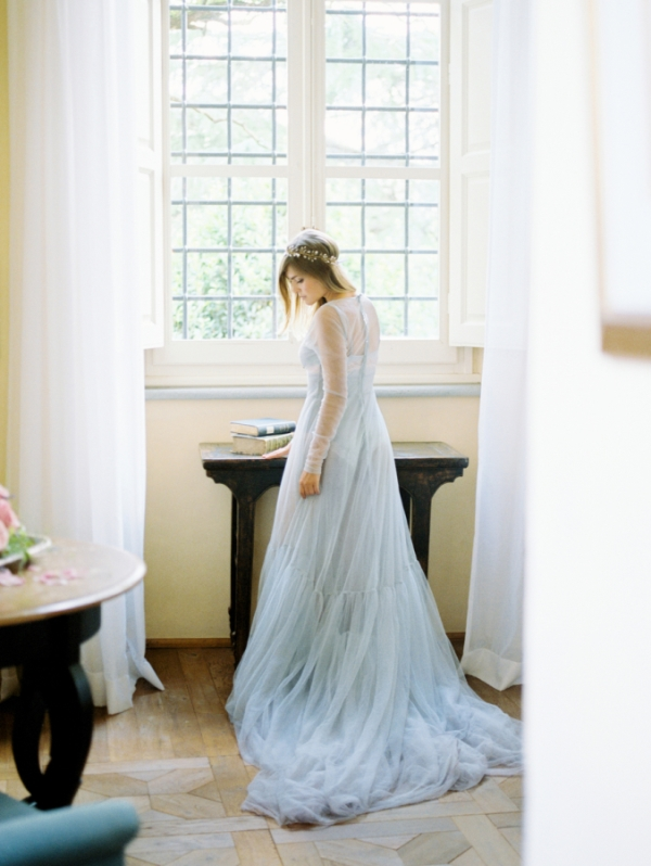 Serenity Blue Wedding Dress By Anna Kubanova