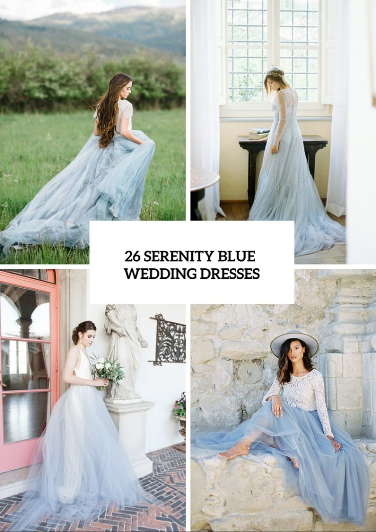 Serenity Blue Wedding Dresses