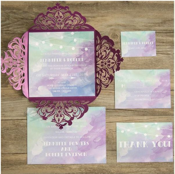 23 Pretty Watercolor Wedding Invitations To Get Inspired - Weddingomania