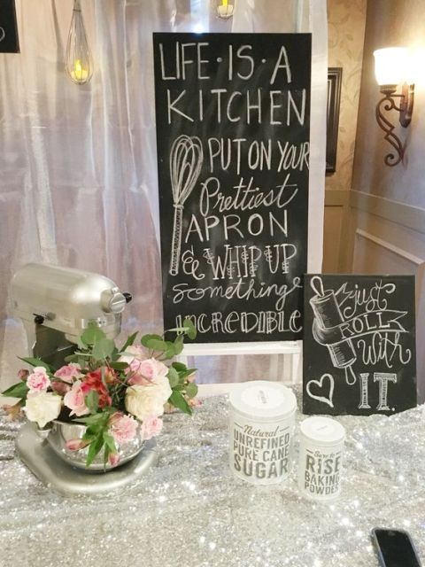 Sign for cooking themed bridal showers