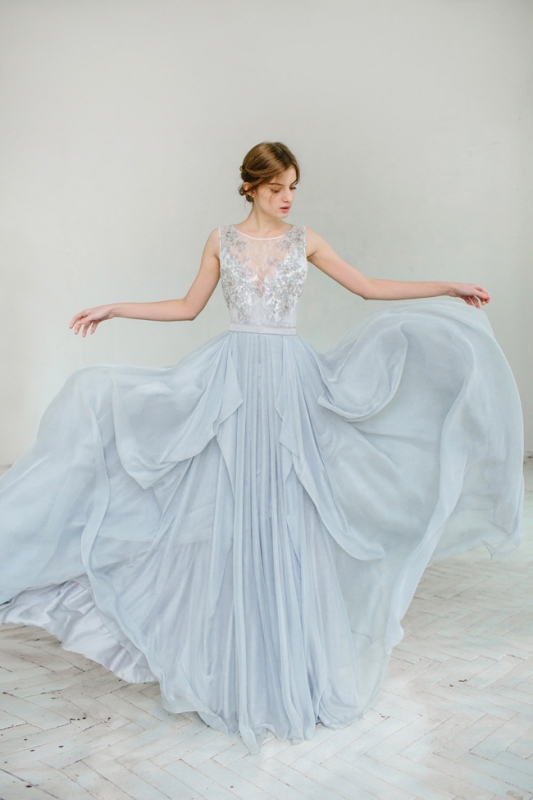 Silvery Grey Wedding Gown By Carousel Fashion