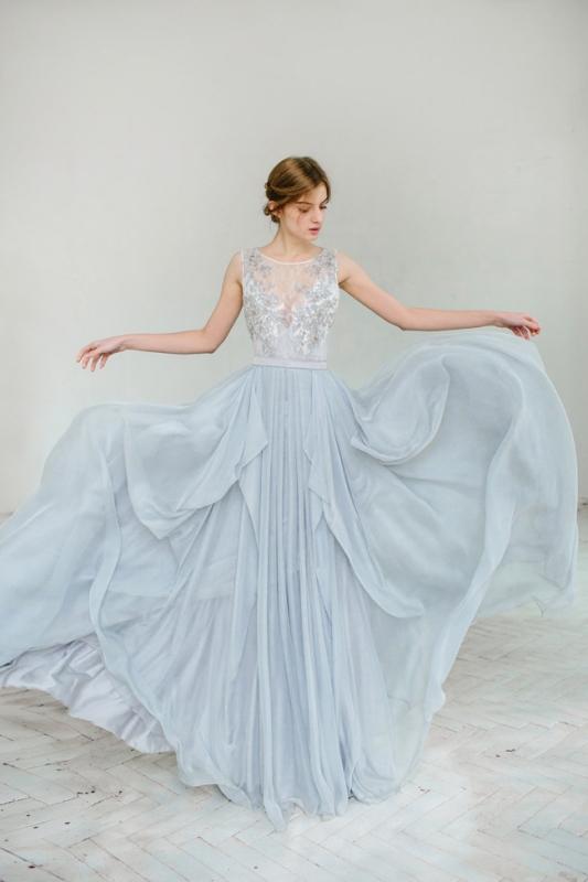 Silvery Grey Wedding Gown By Carousel Fashion