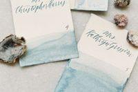 Simply Elegant Watercolor Wedding Invitation