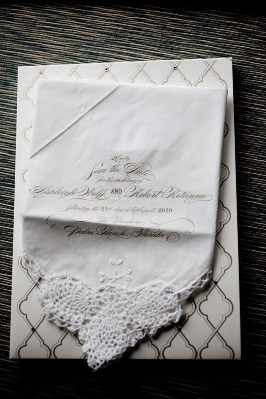 Sophisticated Handkerchief Save-The-Date
