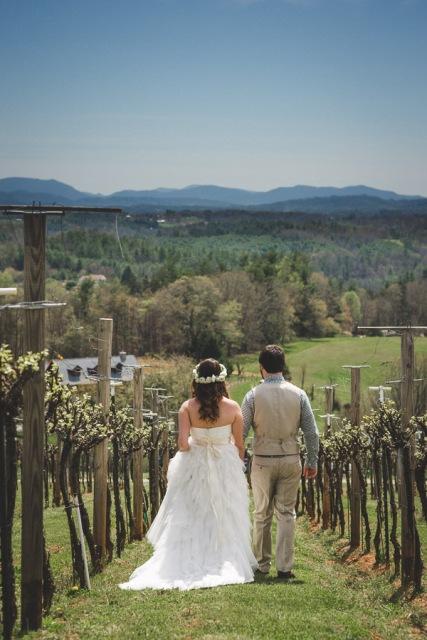 Relaxed DIY Spring Vineyard Wedding