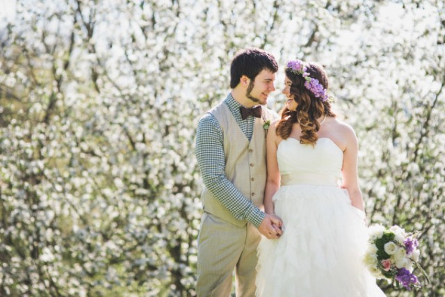 Relaxed DIY Spring Vineyard Wedding