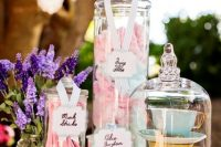 Sweet table centerpiece for Alice in Wonderland bridal shower
