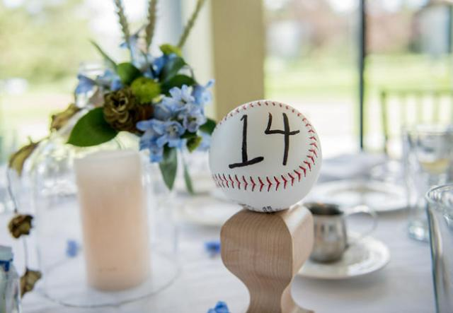 Table number for baseball themed bridal shower
