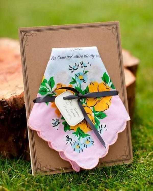 Unique Handkerchief Invitation