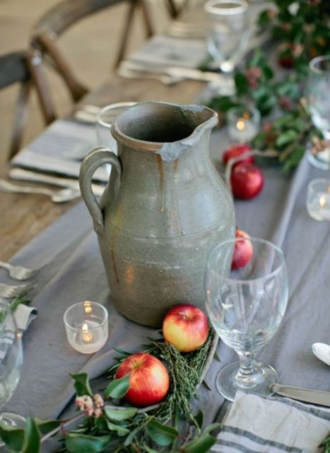 Unique pottery jug for wedding table
