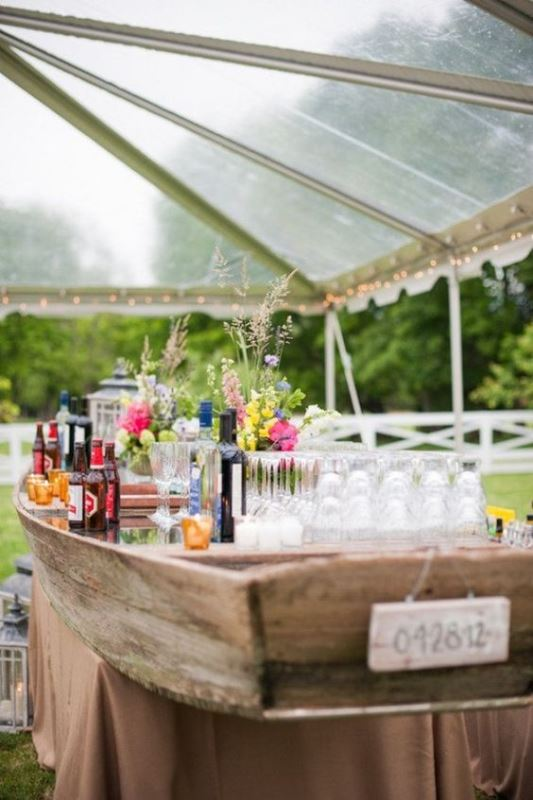Wedding Canoe Bar