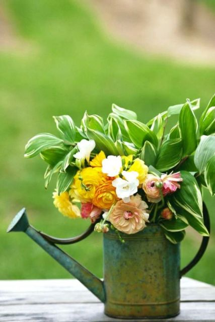 Wedding decor idea with watering can
