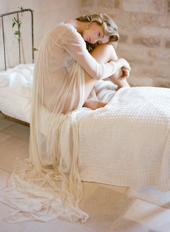 Picture Of delicate bridal boudoir shoot sunstone villa  2