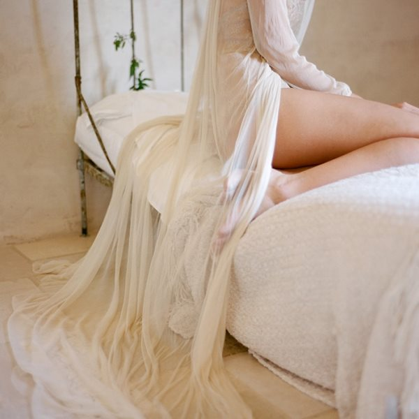 Delicate Bridal Boudoir Shoot At The Sunstone Villa