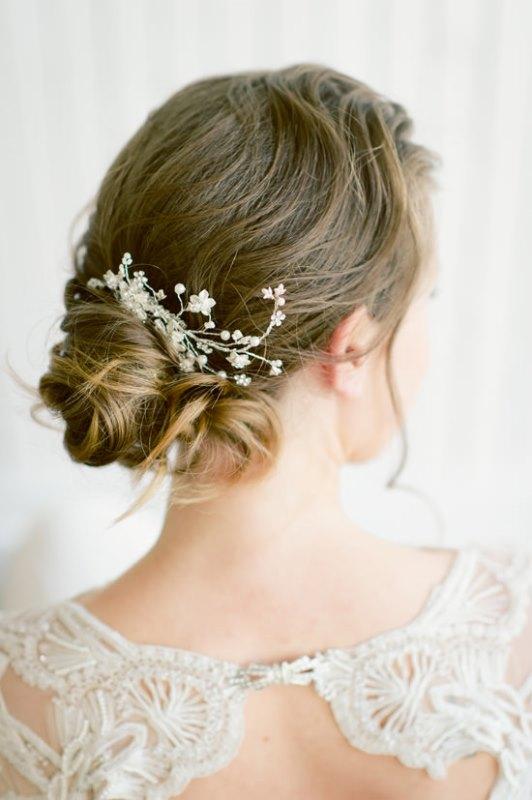 Delicate DIY Bridal Bun Hairstyle