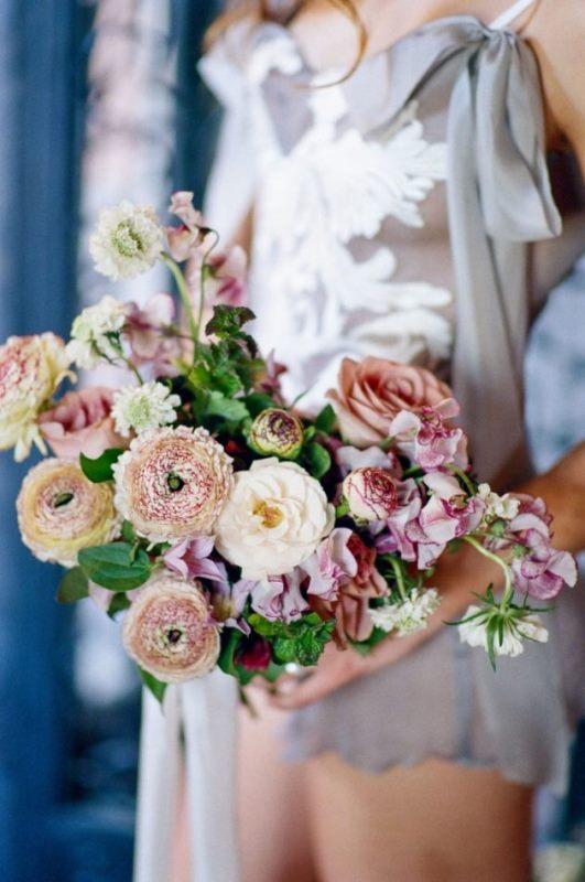 Picture Of european bridal boudoir shoot black peach cream  2