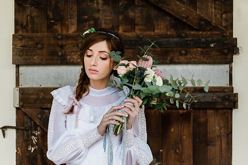 Picture Of free soul boho vintage wedding shoot  11