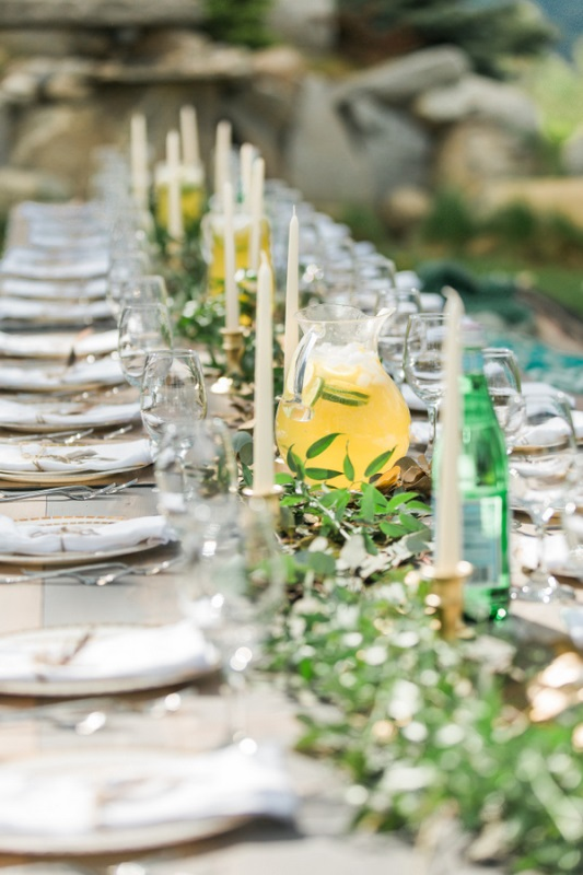 Picture Of fun bohemian themed bridal shower yard  3