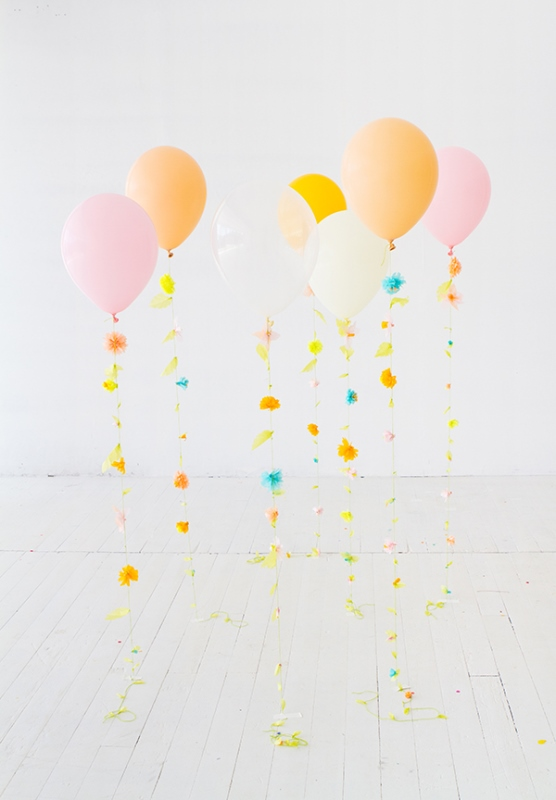 Fun DIY Flower Balloon For Your Wedding Decor