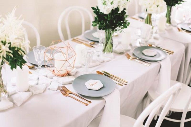 Picture Of marble metallics glamorous wedding shoot  12