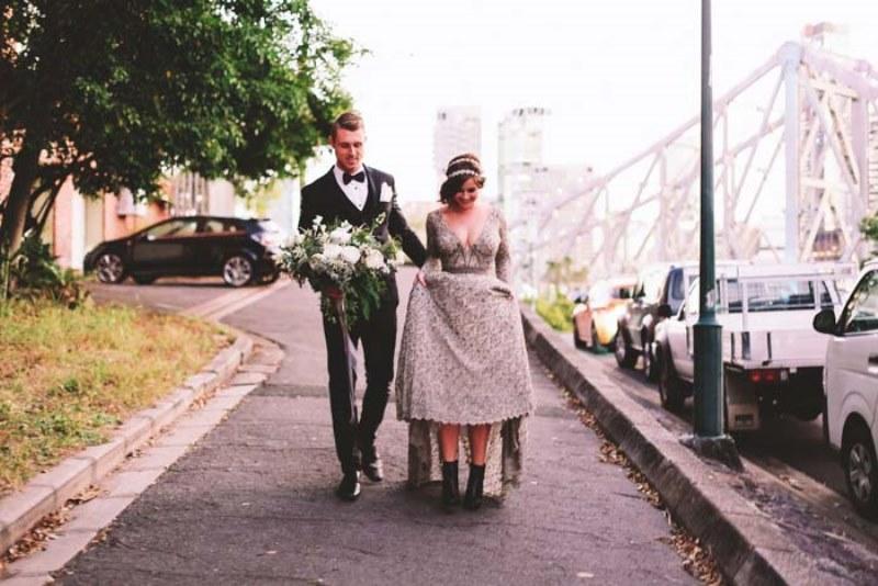 Picture Of marble metallics glamorous wedding shoot  19