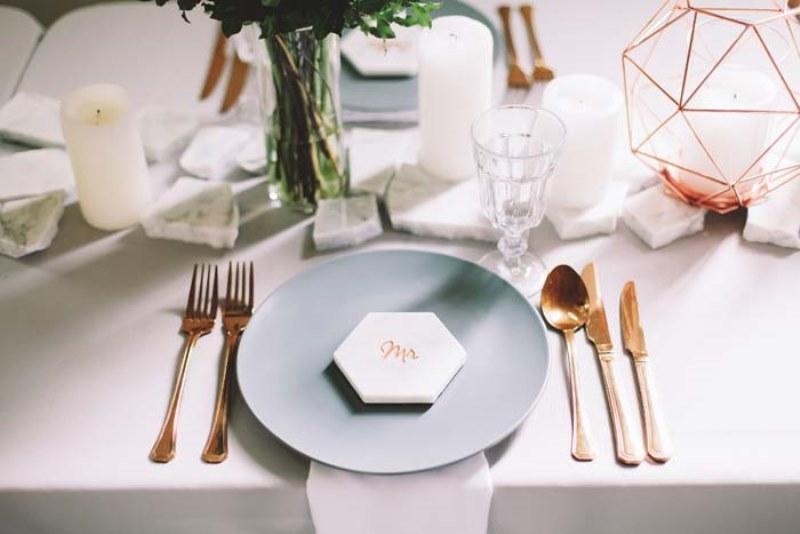 Picture Of marble metallics glamorous wedding shoot  5