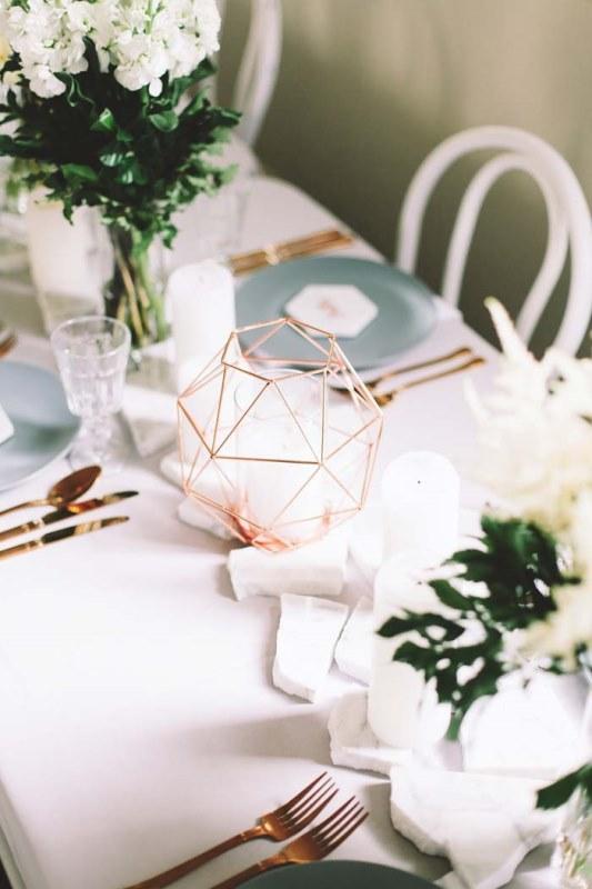 Picture Of marble metallics glamorous wedding shoot  7