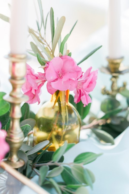 Picture Of modern breezy blue pink white grecian wedding shoot  16