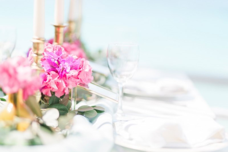 Picture Of modern breezy blue pink white grecian wedding shoot  20