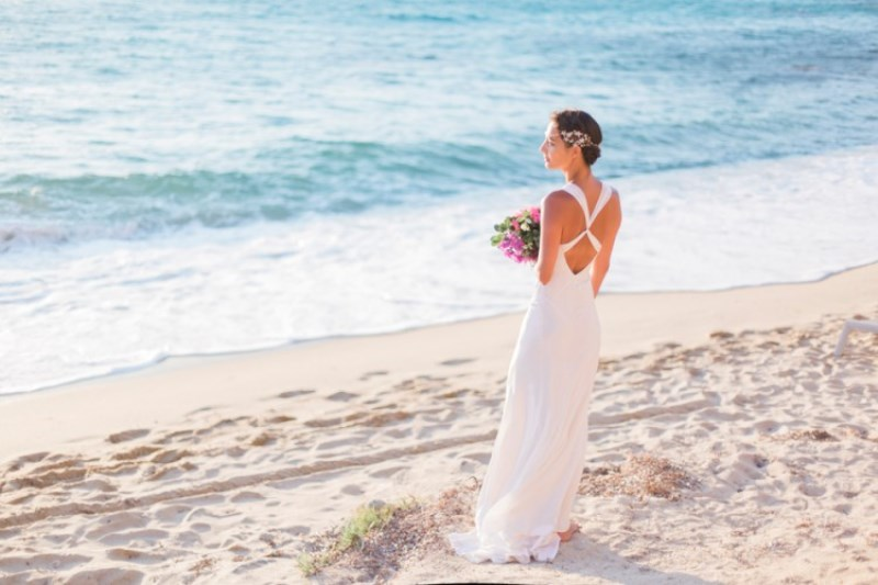Picture Of modern breezy blue pink white grecian wedding shoot  7