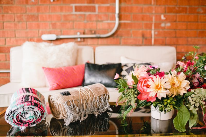 Picture Of modern geometric bridal shower shoot  10