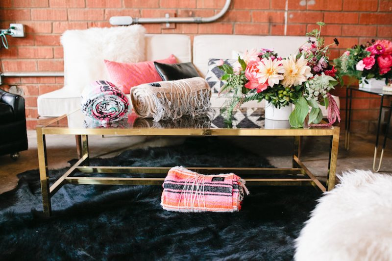 Picture Of modern geometric bridal shower shoot  13