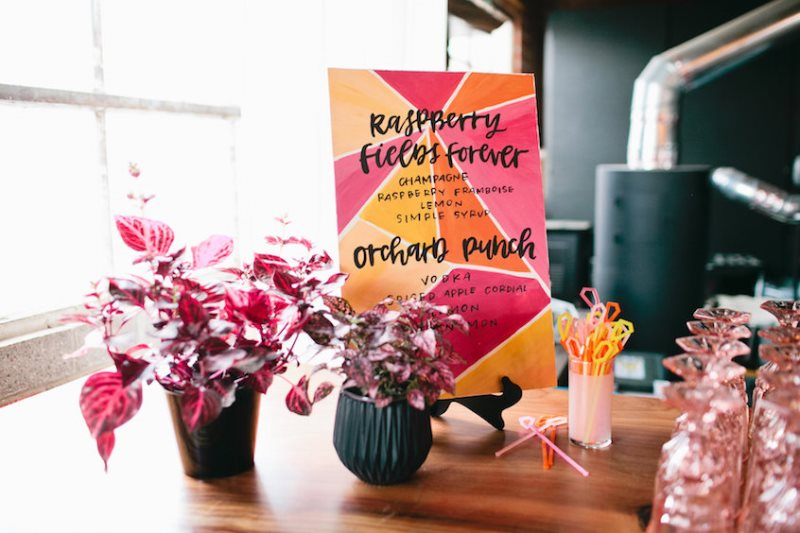 Picture Of modern geometric bridal shower shoot  16