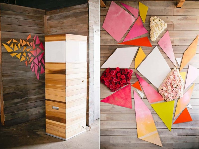Picture Of modern geometric bridal shower shoot  9
